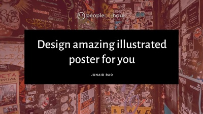 design amazing illustrated poster for you