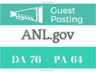 Publish Guest Post on ANL.gov  DA 76