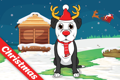Design awesome Christmas cartoon for your