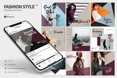 create 20 High Quality IG Posts for your Fashion/Lifestyle