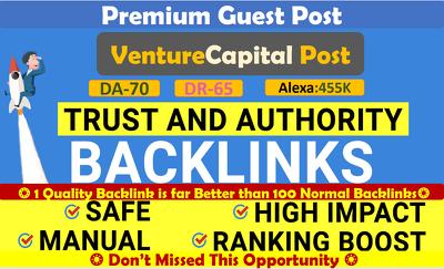 Publish a guest post on Venture Capital News. VCPOST.com – DA70
