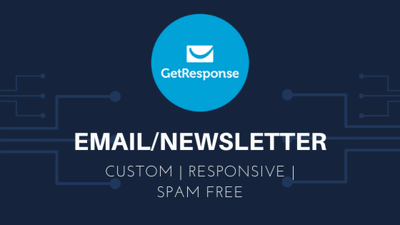 Design email/newsletters and do email automation in GetResponse