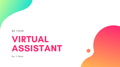 Be your Virtual/Personal Assistant for 1 hr