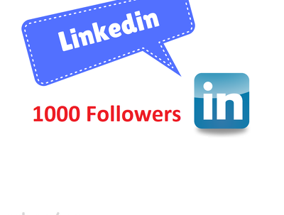 1000 genuine LinkedIn followers to your LinkedIn page/profile