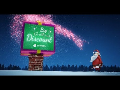 Create great Christmas NYE video animation with your logo/text