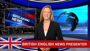 Be your Breaking News Video Presenter and spokesperson