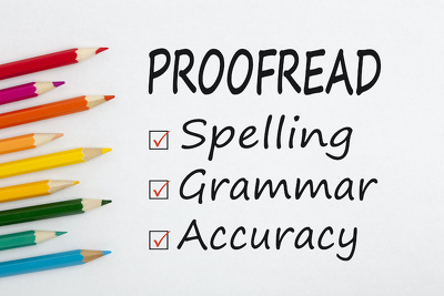 Copyedit & Proofread up to 2000 words within 24 hours