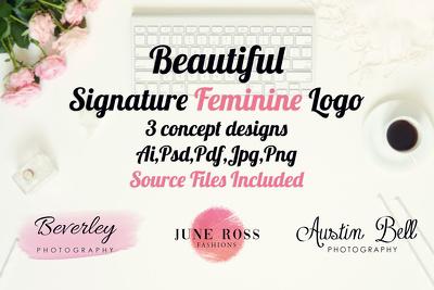 Design A High Quality Modern Signature Feminine Logo