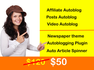 Create wordpress autoblog website responsive any niche