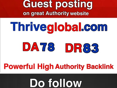 Super Editorial Guest post on Thriveglobal -- Thriveglobal.com