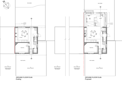 Set up the planning drawings for a simple UK rear extension