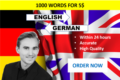 Translate 2000 words from English to German and vice versa