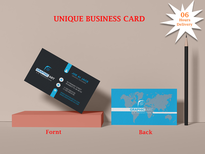 Design professional unique business card in 06 hours
