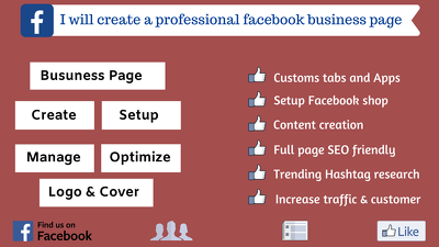 Create and optimize a professional Facebook business page