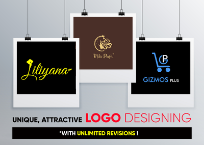 Design an attractive logo with unlimited revisions
