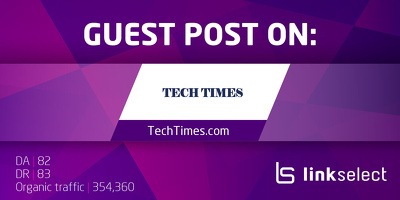 Publish a guest post on TechTimes.com