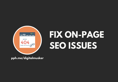 Fix On Page SEO Issues For Google Ranking