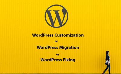 1 hour WordPress Customization/ Migration / Bugs Fixing