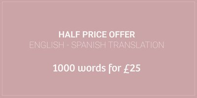 Translate 1,000 words (English/Spanish) for ONLY £25!