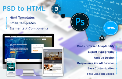 Convert your PSD into responsive Email & HTML Web Page Template