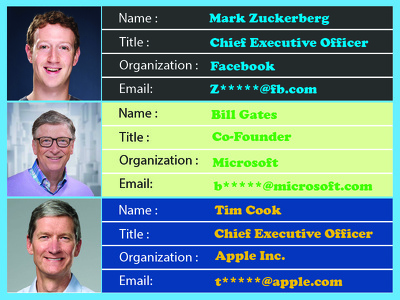 collect 50 Executives emails
