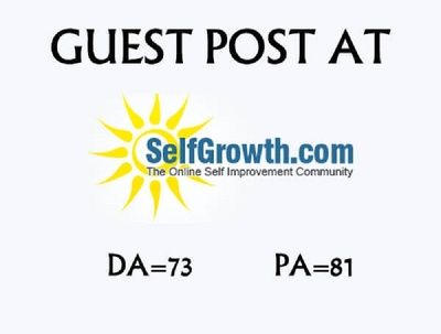 Publish guest post on Selfgrowth with do-follow backlink