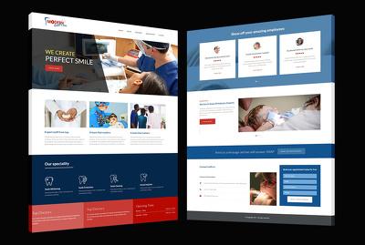 5 Pages Custom Designed WordPress Website