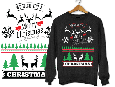 Do ugly christmas sweater and sweatshirt design for you