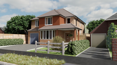 Create a realistic image showing your proposed new property