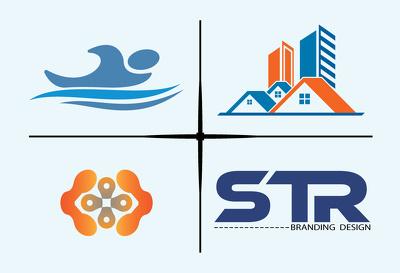 Do 1 modern flat minimalist logo design, brand logo, 3 concepts