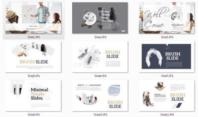 Design 15 slides editable Powerpoint Clean luxury presentation