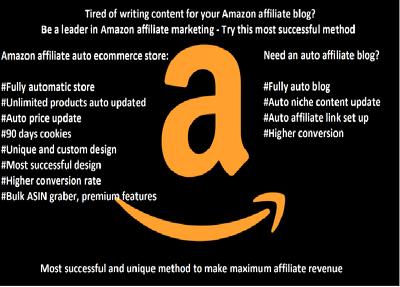 Create an amazon affiliate auto ecommerce store