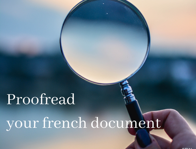 Proofread your French document (500 words)