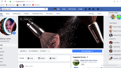 Create and fix your business Facebook page