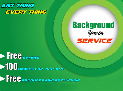 Do 100 photos Background removal and Retouching