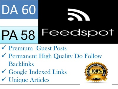 Write article and publish Guest Post On Feedspot Blog
