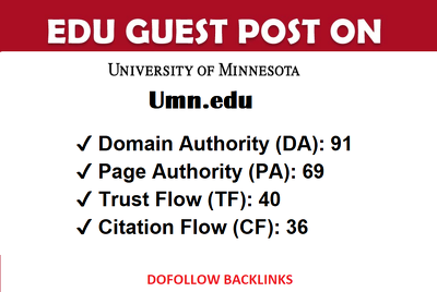 EDU guest post on University Of Minnesota - Umn.edu - DA 91