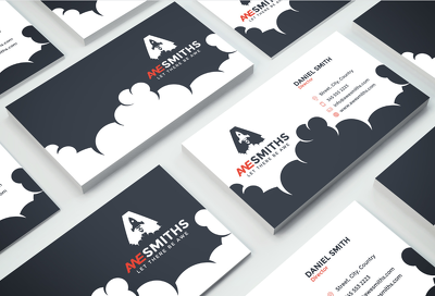 *Premium* Double sided business card with five times Revisions