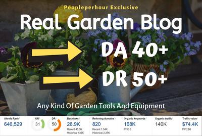Do guest post on a high traffic garden blog site