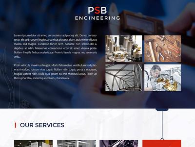 Design website homepage / landing page design