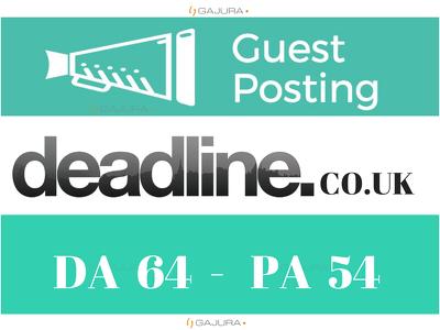 Publish Guest Post DeadLineNews UK, deadlinenews.co.uk