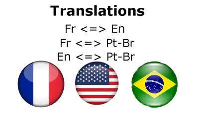 Translate and proofread portuguese/english/french up to 10 pages