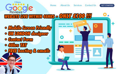 Get your website LIVE in 48hrs for just £100!