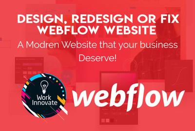 Design, redesign or fix responsive webflow website