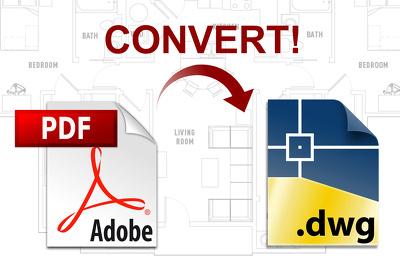 Convert PDF into AutoCAD plan