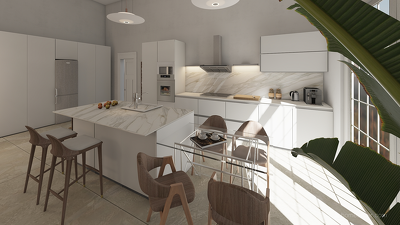 Create new interior design of your space & create a 3D rendered