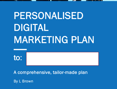 Provide a comprehensive digital marketing plan and strategy