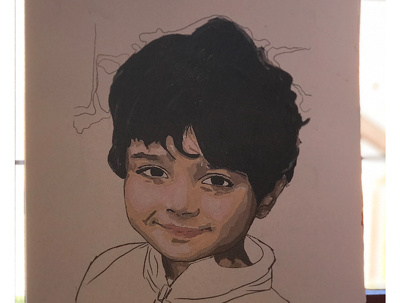 Do a portrait painting and any other painting from your choice