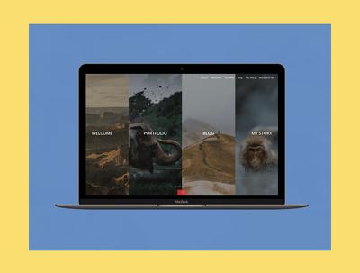 Design a minimalist single-page Wordpress Website