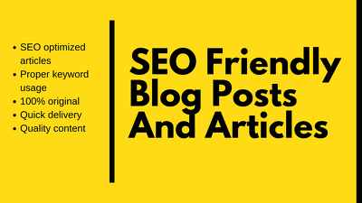 Write an outstanding SEO-optimised 500 word blog on any topic.